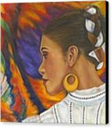 Baile Con Colores Canvas Print