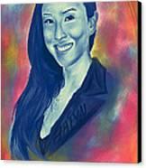 Baiyu In Blue Canvas Print by Kenal Louis