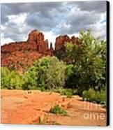 Balance At Cathedral Rock Canvas Print