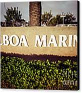 Balboa Marina Sign Newport Beach Picture Canvas Print by Paul Velgos