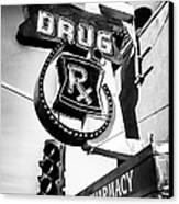 Balboa Pharmacy Drug Store Orange County Photo Canvas Print by Paul Velgos