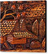 Bali Wood Carving Canvas Print