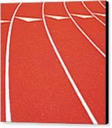 Ballard High School Track Sruface Canvas Print by Nathan Griffith