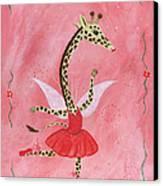 Ballerina Giraffe Girls Room Art Canvas Print by Kristi L Randall Brooklyn Alien Art