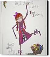 Ballerina Canvas Print by Mary Kay De Jesus