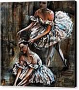 Ballerina Canvas Print by Nancy Bradley
