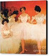 Ballerinas Resting Canvas Print by Pg Reproductions
