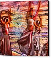 Ballet On The Beach Canvas Print