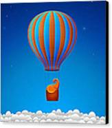 Balloon Elephant Canvas Print by Gianfranco Weiss