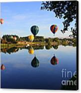 Balloons Heading East Canvas Print by Carol Groenen