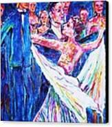 Ballroom Compitition Canvas Print by Linda Vaughon