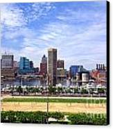 Baltimore Inner Harbor Beach Canvas Print by Olivier Le Queinec