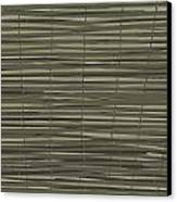 Bamboo Fence - Gray And Beige Canvas Print by Saya Studios