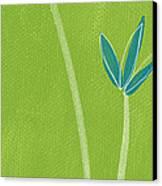Bamboo Namaste Canvas Print by Linda Woods