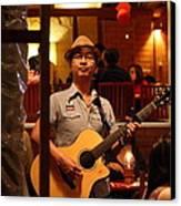 Band At Palaad Tawanron Restaurant - Chiang Mai Thailand - 01133 Canvas Print