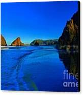 Bandon Blue And Gold Canvas Print by Adam Jewell