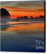 Bandon Foggy Fire Canvas Print