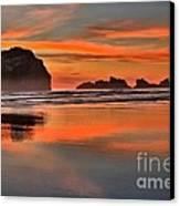 Bandon Orange Pastels Canvas Print