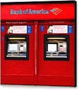 Bank Of America Automated Teller Machine - Painterly - 5d20737 Canvas Print