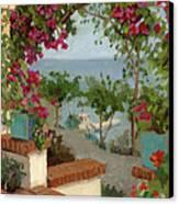 Banning House Bougainvillea Canvas Print by Alice Leggett