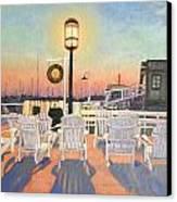 Bannister's Wharf Newport Ri Canvas Print by Betty Ann Morris