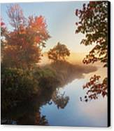 Bantam River Sunrise Canvas Print by Bill Wakeley