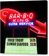 Bar B Q King In Charlotte N C Canvas Print by Randall Weidner