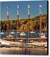 Bar Harbor Schooner Canvas Print by Brian Jannsen