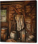 Bar - Weighing The Hops Canvas Print by Mike Savad
