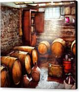 Bar - Wine - The Wine Cellar  Canvas Print by Mike Savad