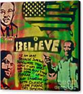 Barack And Martin And Malcolm Canvas Print by Tony B Conscious