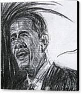 Barack Obama 1 Canvas Print by Michael Morgan