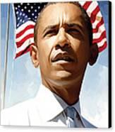 Barack Obama Artwork 1 Canvas Print by Sheraz A