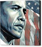 Barack Obama Artwork 2 B Canvas Print by Sheraz A