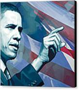 Barack Obama Artwork 2 Canvas Print