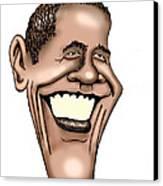 Barack Obama Canvas Print by Bill Proctor
