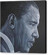 Barack Obama Canvas Print by David Dunne