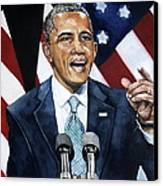 Barack Obama  Canvas Print by Michael  Pattison