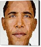 Barack Obama Canvas Print by Samuel Majcen