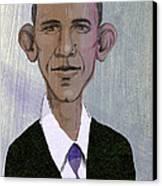 Barack Obama Canvas Print by Steve Dininno
