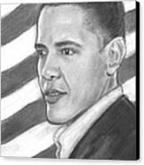 Barack Canvas Print by Sue Carmicle