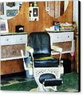 Barber - Barber Shop One Chair Canvas Print by Susan Savad