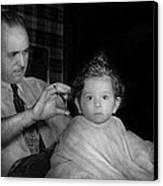 Barber - First Haircut Canvas Print