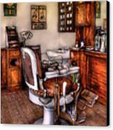 Barber - The Barber Chair Canvas Print