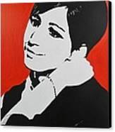 Barbra Streisand Canvas Print by Juan Molina