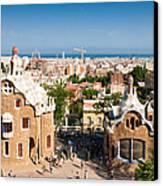 Barcelona Park Guell Antoni Gaudi Canvas Print
