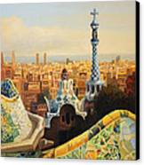 Barcelona Park Guell Canvas Print