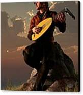 Bard With Lute Canvas Print