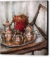 Barista - Tea Set - Morning Tea  Canvas Print by Mike Savad
