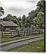 Barn And Corral Canvas Print by Guy Shultz